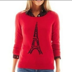 🆕️Elle•Red w/black flocked Effiel Tower•NWT•sz.XL